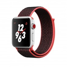 Ремешок для Apple Watch 38mm/40mm Sport Loop Bright Crimson/Black (OEM)