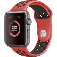 Ремешок для Apple Watch Nike+ 38mm/40mm Red/Black Nike Sport Band (OEM)