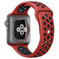 Ремешок для Apple Watch Nike+ 42mm/44mm Red/Black Nike Sport Band (OEM)