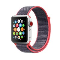 Ремешок для Apple Watch 38mm/40mm Sport Loop Electric Pink (OEM)