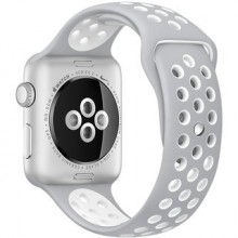 Ремешок для Apple Watch Nike+ 42mm/44mm Pure Platinum/White Nike Sport Band (OEM)