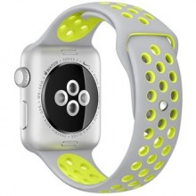 Ремешок для Apple Watch Nike+ 42mm/44mm Grey/Yellow Nike Sport Band (OEM)