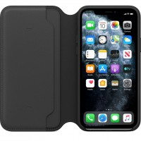 Кожаный чехол для iPhone 11 Pro Leather Folio Case Black MX062