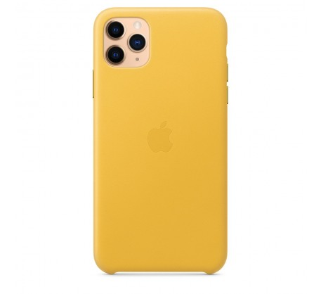 Кожаный чехол для iPhone 11 Pro Max Leather Case Meyer Lemon MX0A2