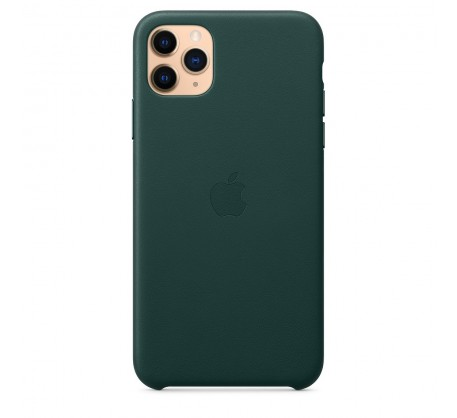 Кожаный чехол для iPhone 11 Pro Max Leather Case Forest Green MX0C2