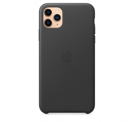 Кожаный чехол для iPhone 11 Pro Max Leather Case Black MX0E2