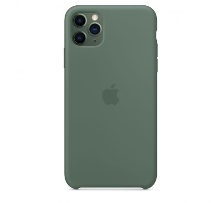 Силиконовый чехол для iPhone 11 Pro Max Silicone Case Pine Green MX012