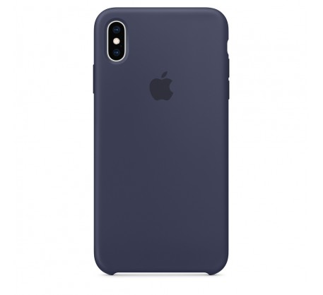 Силиконовый чехол для iPhone XS Max Silicone Case Midnight Blue Copy