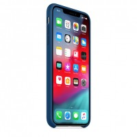 Силиконовый чехол для iPhone XS Max Silicone Case Blue Horizon Copy