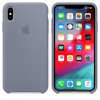 Силиконовый чехол для iPhone XS Max Silicone Case Lavender Grey Copy