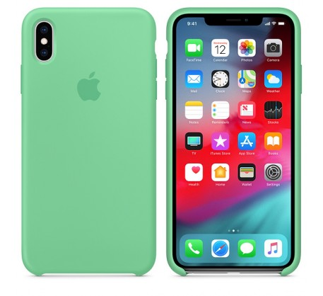 Силиконовый чехол для iPhone XS Max Silicone Case Spearmint MVF82 OEM