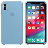 Силиконовый чехол для iPhone XS Max Silicone Case Cornflower Copy