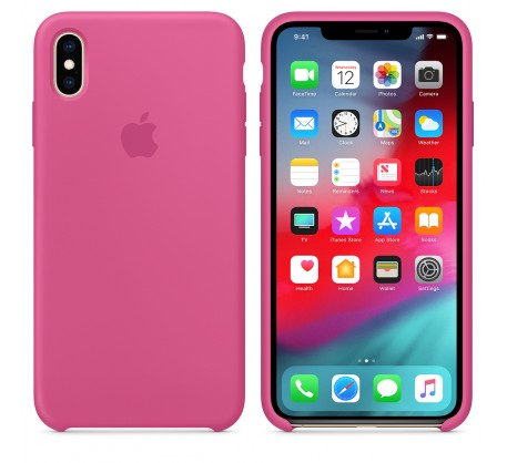 Силиконовый чехол для iPhone XS Max Silicone Case Dragon Fruit MW972 OEM